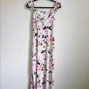 Flynn Skye Bardot Maxi - pink floral